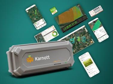 Boitier Karnott et exemples de données de la parcelle qu'il enregistre