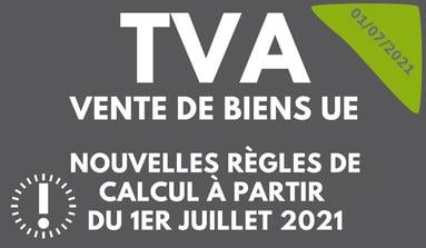 Infographie nouveautés TVA 1er janvier 2021 échange de biens union européenne UE