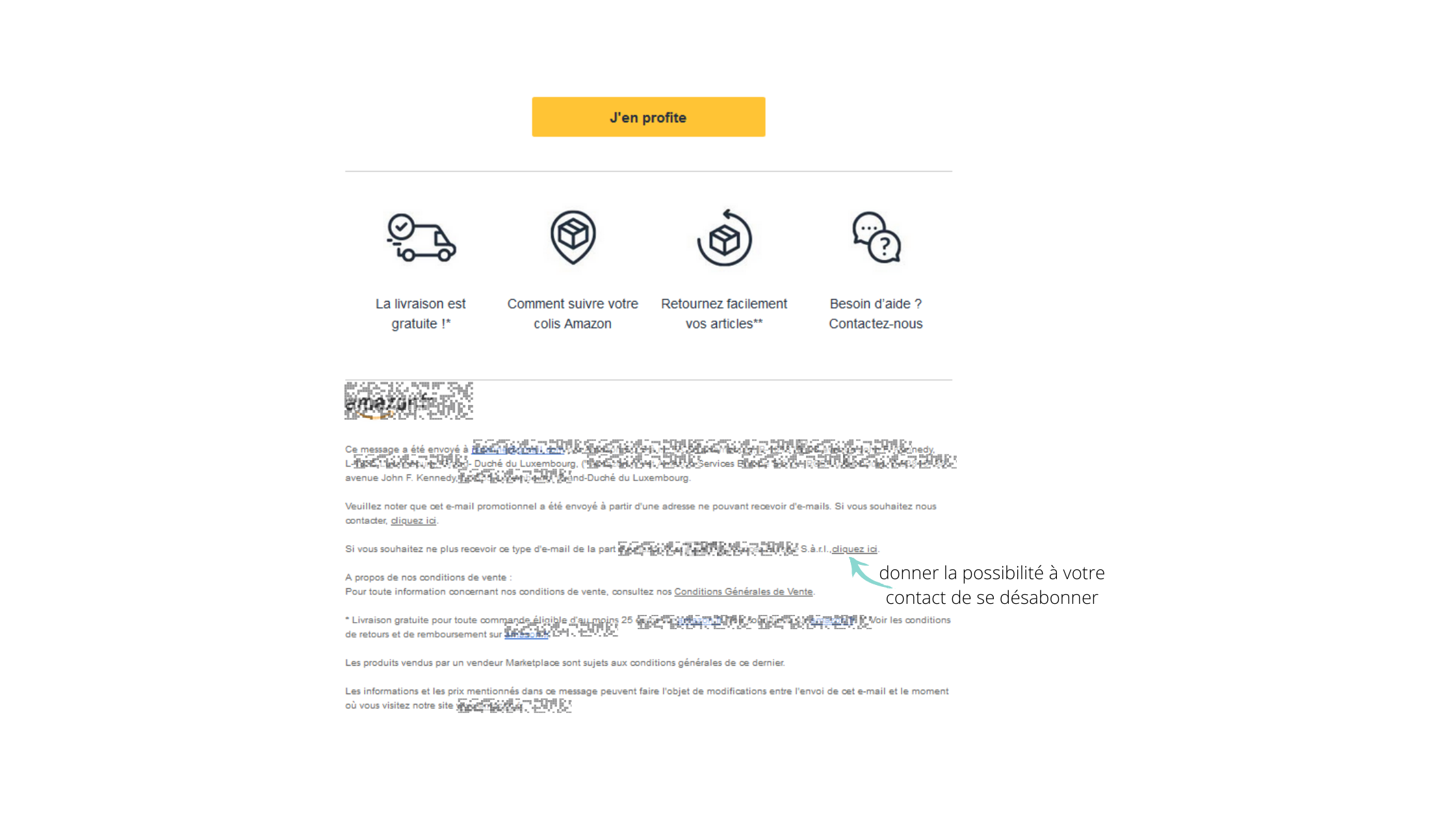 Désabonnement mailing list
