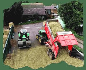 Attention aux buty ! Les roues des bennes et tracteurs entrants dans le silo ne doivent pas apporter de terre ! Sinon, il faut vider devant le silo !