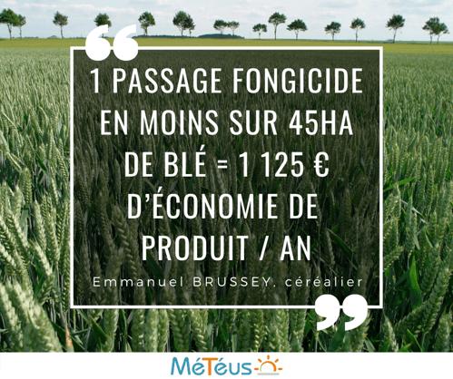ISAGRI - 1920 - 1 passage fongicide en moins sur 45ha de blé = 1 125 € d'économie de  produit _ an