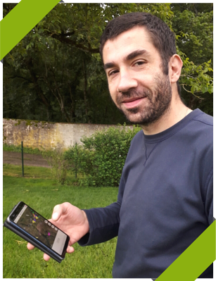 Julien Chopin céréalier utilisateur de lapplication Geofolia Smartphone_