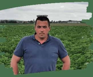 Christophe Parent, céréalier dans le 77 et utilisateur de la sonde d'irrigation Météus