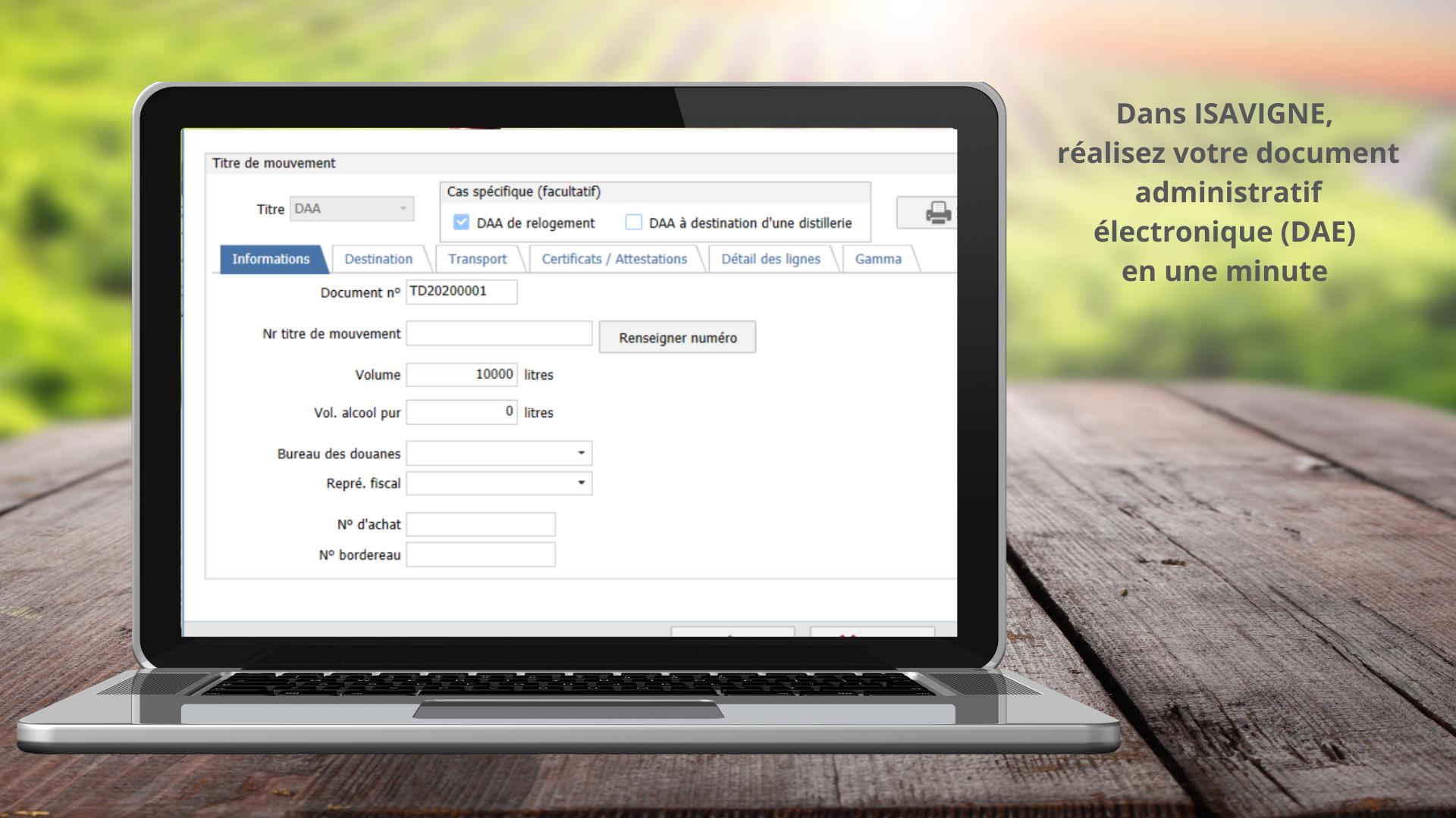 Réaliser votre document administratif électronique (DAE) en 1 minute avec Isavigne