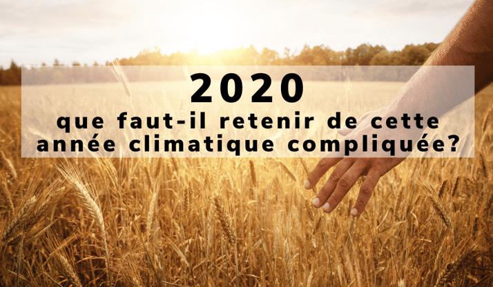2020 : que faut il retenir de cette année climatique compliquée?