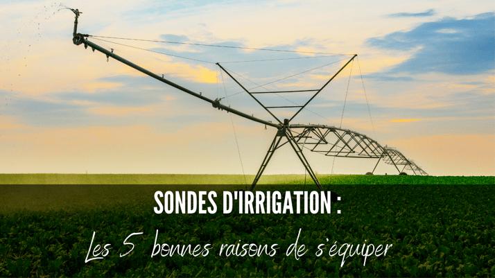 5 bonnes raisons de s'équiper d'une sonde d'irrigation