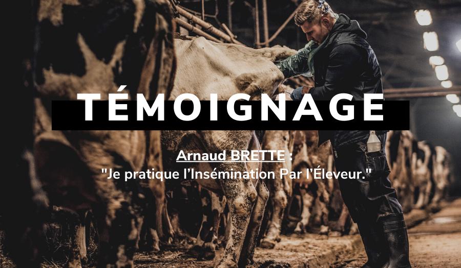 Arnaud BRETTE pratique l'insémination par l'éleveur depuis 4 ans.