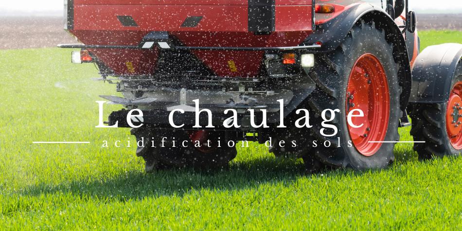 Le chaulage : contre l'acidification des sols