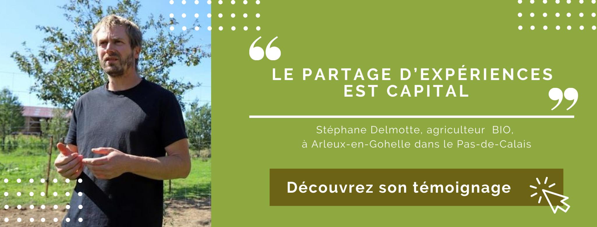Stéphane Delmotte agriculteur Bio dans le nord pas de calais